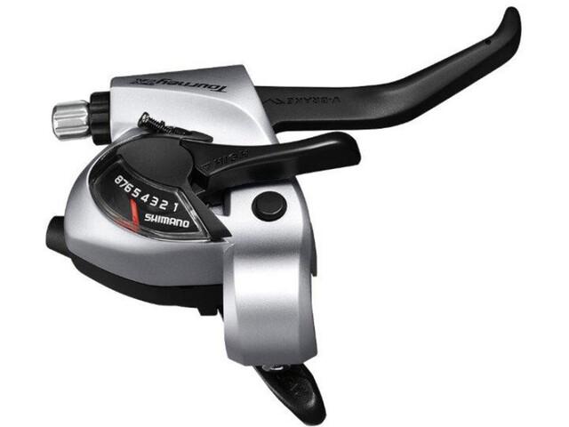 Shimano Tourney TX ST-TX800 Leva del cambio/freno per freni a V destra 8 velocità, silver